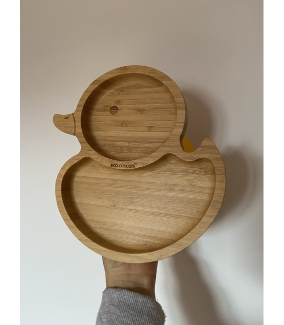 Plato bambú Pato